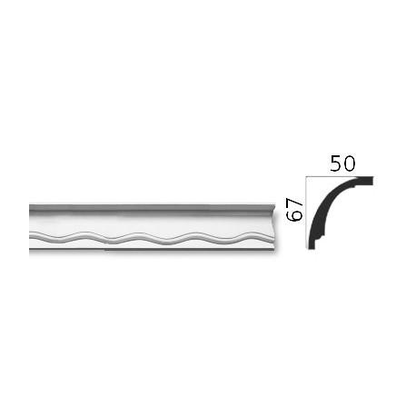 Faseta gipsowa SC09 50x67mm