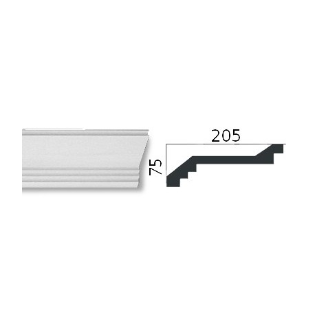Faseta gipsowa SC25 75x75mm