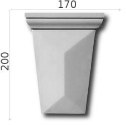 Konsola gipsowa SED01 170x200x60mm