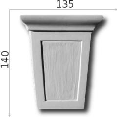 Konsola gipsowa SED02 135x145x45mm
