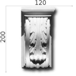 Konsola gipsowa SED04 125x200x95mm