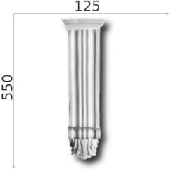 Konsola gipsowa SED08 130x550x90mm
