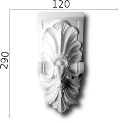 Konsola gipsowa SED010 120x300x70mm