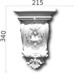 Konsola gipsowa SED015 217x337x130mm