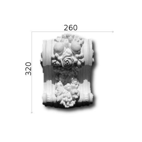 Konsola gipsowa SED018 260x320x180mm