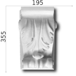 Konsola gipsowa SED021 195x335x180mm