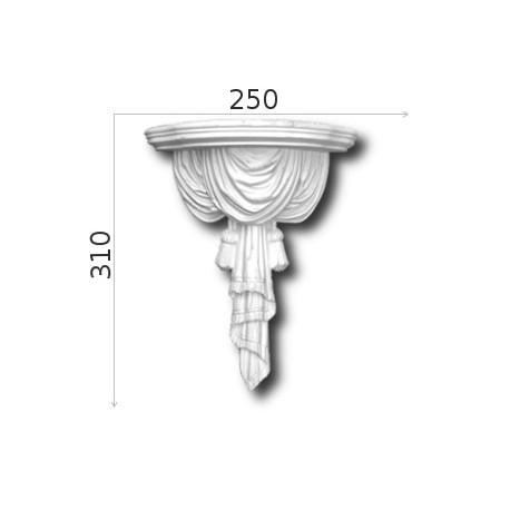 Konsola gipsowa SED022 195x335x180mm