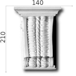 Konsola gipsowa SED025 140x210x75mm