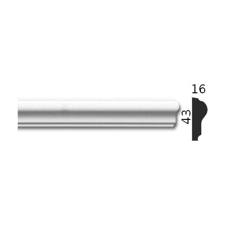 Listwa gipsowa SLP21 16x43mm