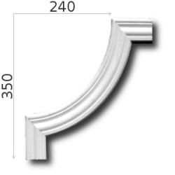 Narożnik SNLP02W 240x350mm