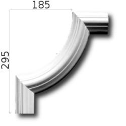 Narożnik SNLP03Wa 185x295mm