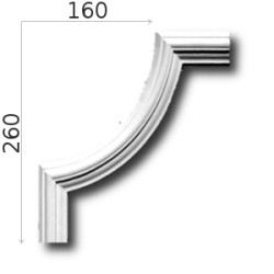 Narożnik SNLP04Wb 160x260mm