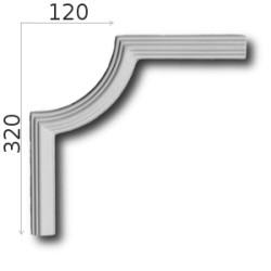 Narożnik SNLP17 120x320mm