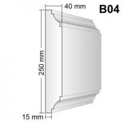 Bonia narożna B04F40N 40x250x400mm natrysk