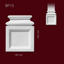 Baza SBP15(do pilastra SPL15) 180x206x38mm