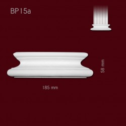 Baza SBP15a(do pilastra SPL15) 185x58x40mm