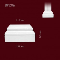 Baza SBP20a(do pilastra SPL20) 297x143x92mm