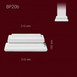 Baza SBP20b(do pilastra SPL20) 310x100x85mm