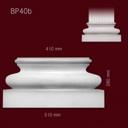Baza SBP40b(do pilastra SPL40) 510x280x134mm