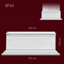 Baza SBP60(do pilastra SPL60) 705x290x160mm