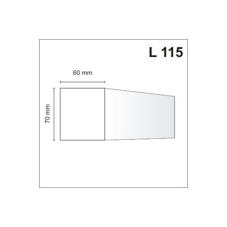 Listwa elewacyjna L115 60x70mm