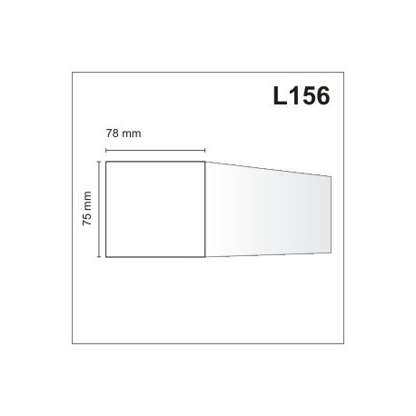 Listwa elewacyjna L156 78x75mm