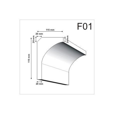 Faseta F01 115x185mm