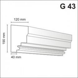 Gzyms elewacyjny G43 120x190