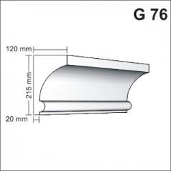 Gzyms elewacyjny G76 120x215mm