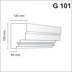 Gzyms elewacyjny G101 120x190mm