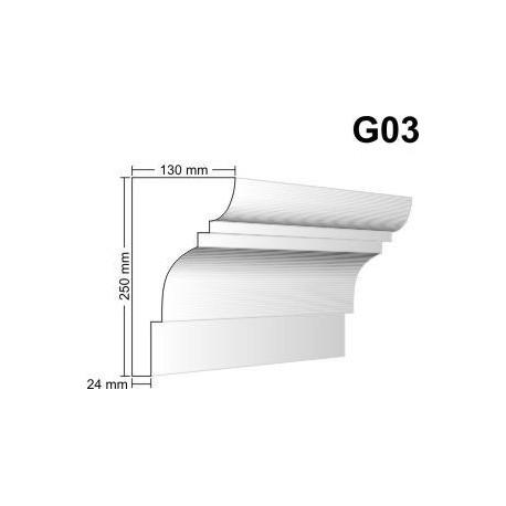 Gzyms elewacyjny G03 130x250 mm