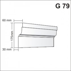Gzyms elewacyjny G79 60x175mm