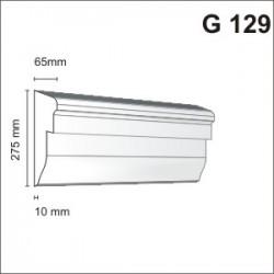 Gzyms elewacyjny G129 65x275mm