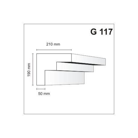 Gzyms elewacyjny G117 210x190mm