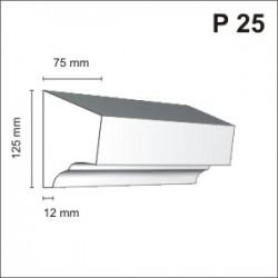 Listwa podokienna P25 75x125mm