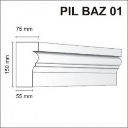Listwa elewacyjna Pil Baz 01 75x150mm