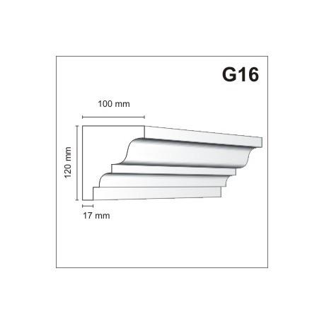 Gzyms elewacyjny G16 100x120mm
