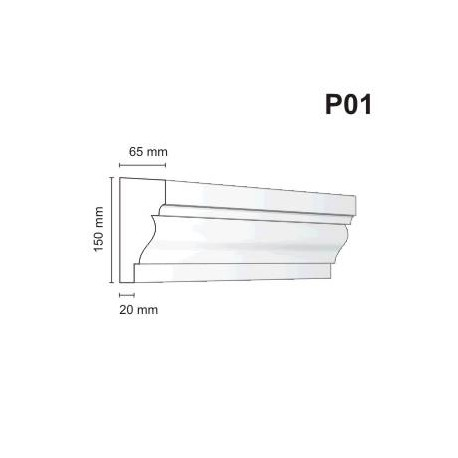 Listwa podokienna P01 65x150mm