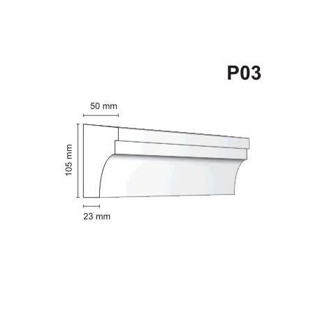 Listwa podokienna P03 50x105mm