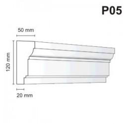 Listwa podokienna P05 50x120mm