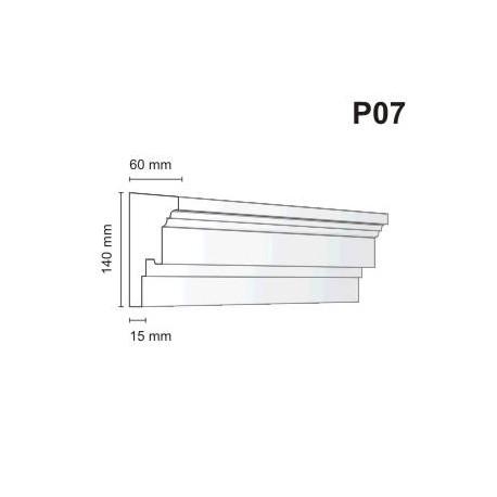 Listwa podokienna P07 60x140mm