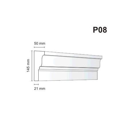 Listwa podokienna P08 50x145mm