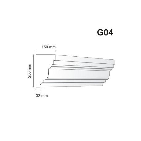 Gzyms elewacyjny G04 150x250 mm