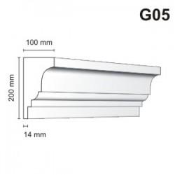 Gzyms elewacyjny G05 100x200 mm