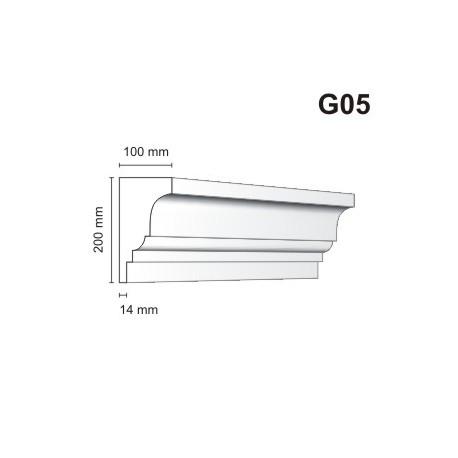 Gzyms elewacyjne G05 100x200 mm