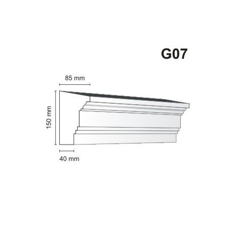 Gzyms elewacyjny G07 85x150 mm