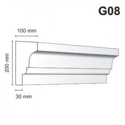 Gzyms elewacyjny G08 100x200 mm