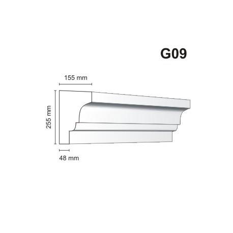 Gzyms elewacyjny G09 155x255 mm