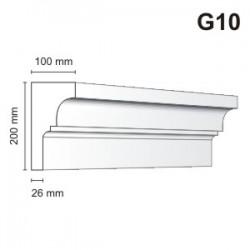 Gzyms elewacyjny G10 100x200 mm