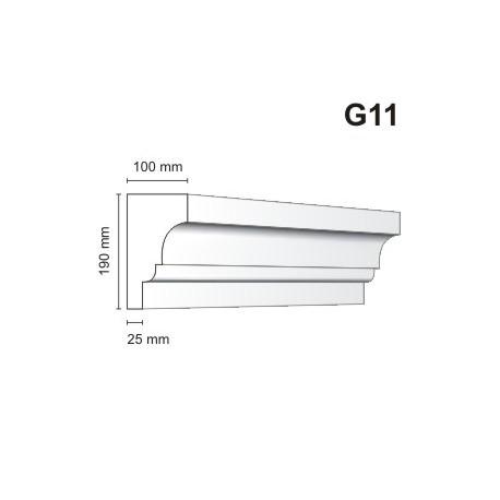 Gzyms elewacyjny G11 100x190 mm